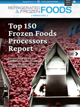 Refrigerated & Frozen Foods March 2021 Cover