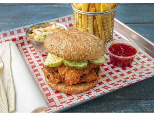 Hot Fried Chicken Sandwich Sprouted Bun Sysco