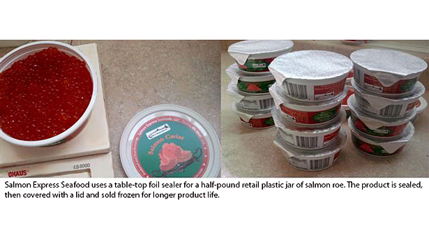 Salmon Express seafood packaging