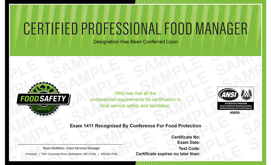 Fmi Prometric Partner To Enhance Food Safety Certification In