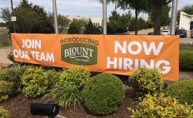 Blount Fine Foods new plant sign