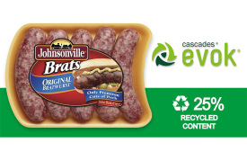 Johnsonville sausages EVOK packaging