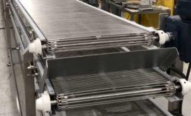 Multi-Conveyor wire mesh belt cooling conveyor