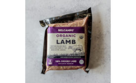 Belcampo organic ground lamb