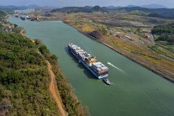 Panama Canal aerial shot
