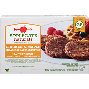 Applegate chicken and maple sausages
