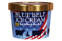 Blue Bell red white and blue ice cream