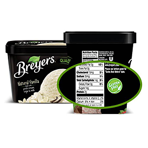 Breyers gluten-free ice cream