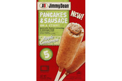 Jimmy Dean sausage on a stick
