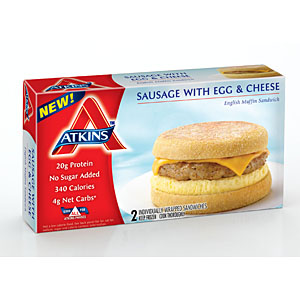 Atkins breakfast sandwiches