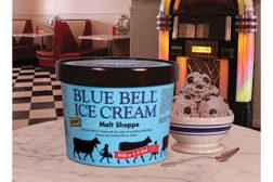 Blue Bell Malt Shoppe ice cream