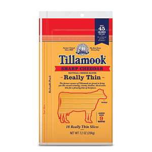Tillamook really thin sliced cheese