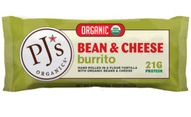 PJ's Organics bean and cheese burrito