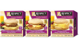Respect breakfast sandwiches