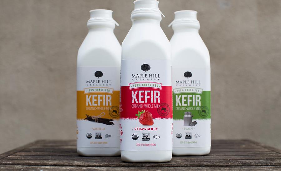 kefir milk. 100% grass-fed whole milk kefir e