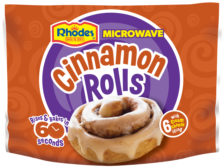 Rhodes microwaveable cinnamon buns