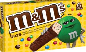 M&M ice cream bar