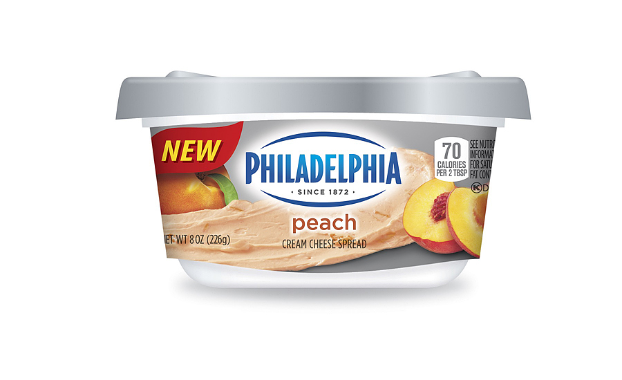 Philadelphia peach cream cheese