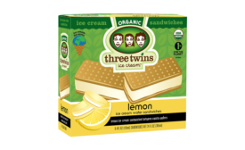 Three Twin lemon ice cream sandwich