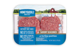 Cargill Turkey burger patties Honey Suckle Savory Seasoned