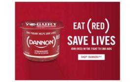 Dannon Red yogurt
