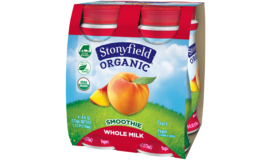 STonyfield whole milk smoothies