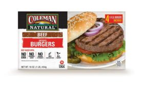 Coleman Natural ready-to-eat burgers