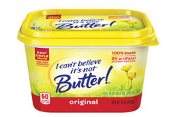 I Can't Believe its not butter new tub