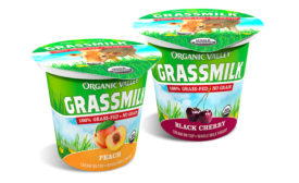 Organic Valley cherry peach yogurt