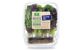 Pete's Living Greens spring mix