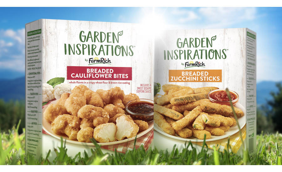 Farm Rich Plant-Based Vegetarian Breaded Cauliflower Zucchini Appetizers Frozen
