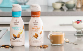 Dairy Free Oat Almond Milk Prebiotic Coffee Creamer MCT Oil Fiber Protein Natural Bliss