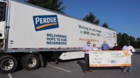 Perdue Refrigerated Truck Albermarle Food Bank