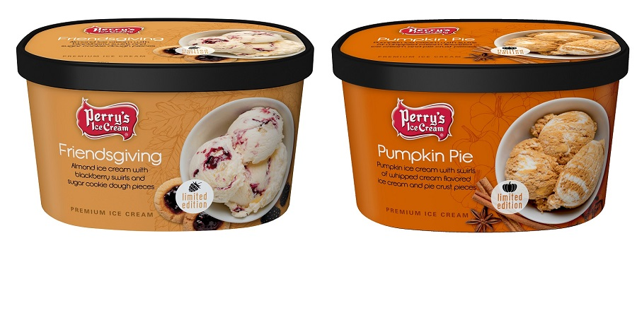 Friendsgiving Pumpkin Pie Fall Flavors Perry's Ice Cream Limited Edition