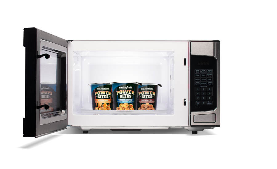 Microwavable Snacks Eggs Sausage Cheese Potatoes Power Bites Smithfield Refrigerated
