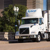 Sabine Street Bridge Houston Sysco Truck