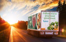 Sysco Truck Sunset
