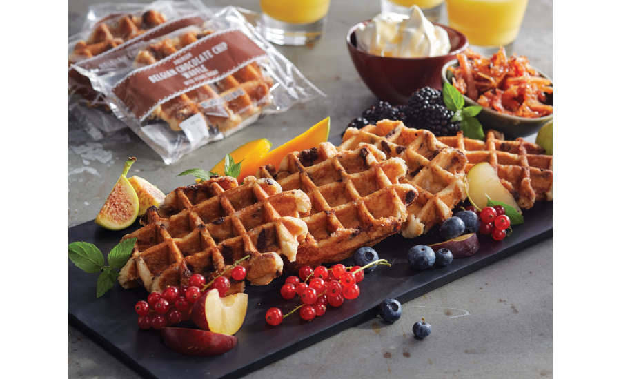 Belgian Chocolate Chip Waffle Wrapped US Foods Holiday Scoop