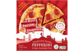 Organic Pepperoni Sourdough Pizza Alex's Awesome Frozen