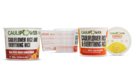 Riced Cauliflower Microwaveable Cups Recyclable Packaging Caulipower
