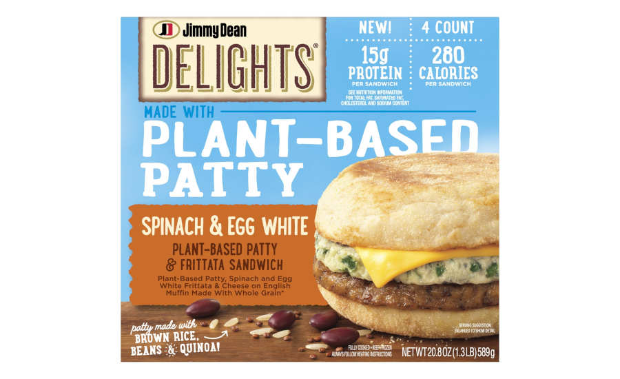 Plant Based Spinach Egg White Breakfast Sandwiches Frozen Jimmy Dean