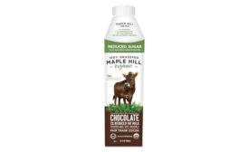 Reduced Sugar Grass Fed Organic Chocolate Milk Maple Hill Creamery