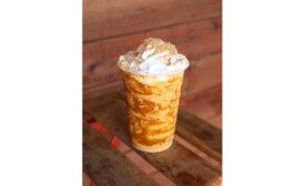 Vegan Pumpkin Soft-Serve Milkshake Seasonal Oatly Project Pollo Texas