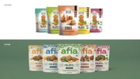 Falafel Kibbeh Frozen Afia Austin Texas Rebranding