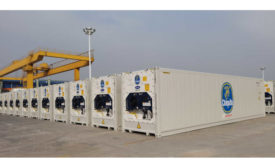 Shipping Containers Refrigerated Bananas Pineapples Central America Chiquita