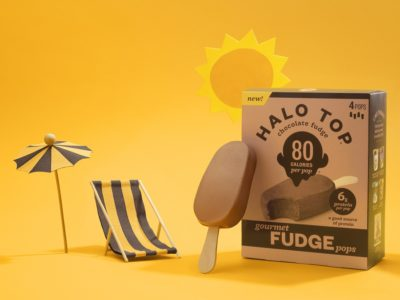 Halo Top Fudge Pops 80 Calories