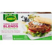 Mixed Turkey Meat Plant Based Ingredients Burger Jennie-O Blends