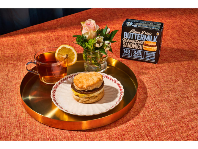 Southern Buttermilk Biscuit Breakfast Sandwich Tea Mason Dixie