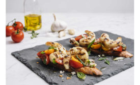 Plant Based Grilled Shrimp Bruscetta New Wave Foods