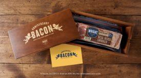 Wood Smoked Bacon Gift Box Wright Bacon Anniversary